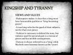 kingship and tyranny