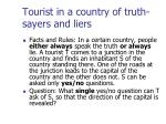 tourist in a country of truth sayers and liers