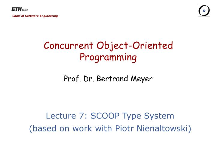 concurrent object oriented programming prof dr bertrand meyer n.