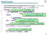 implicit types