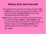 rhyme end and internal