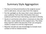 summary style aggregation