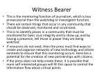 witness bearer