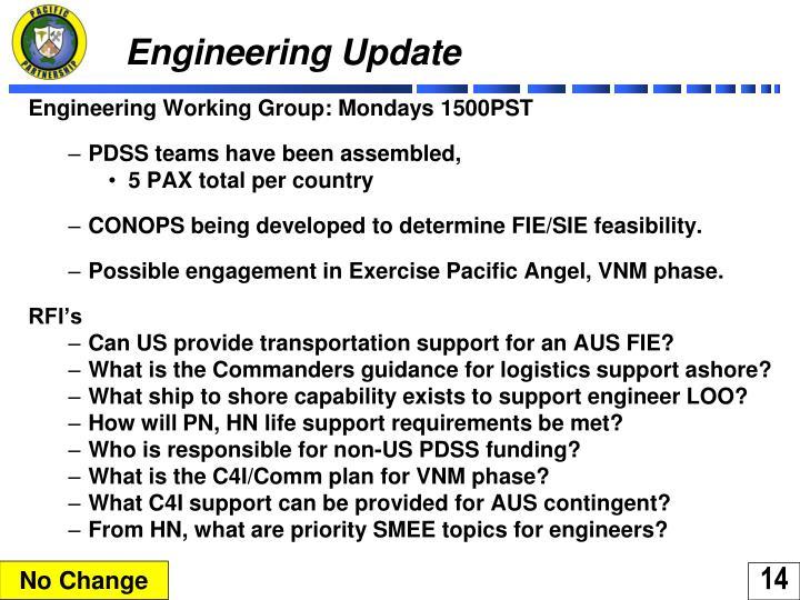 Engineering Update