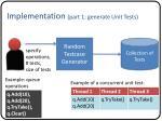 implementation part 1 generate unit tests