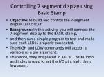 controlling 7 segment display using basic stamp