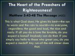 the heart of the preachers of righteousness1