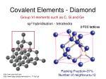 covalent elements diamond