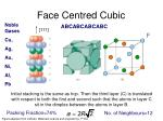 face centred cubic