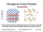 hexagonal close packed