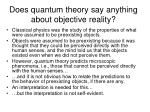 does quantum theory say anything about objective reality
