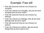 example free will