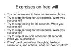 exercises on free will