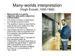 many worlds interpretation hugh everett 1930 1982