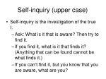 self inquiry upper case