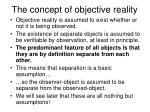 the concept of objective reality