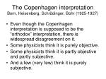 the copenhagen interpretation born heisenberg schr dinger bohr 1925 1927