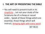 i the art of presenting the bible1