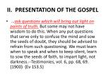 ii presentation of the gospel