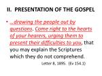 ii presentation of the gospel1