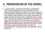 ii presentation of the gospel3