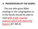 ii presentation of the gospel6
