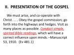 ii presentation of the gospel7