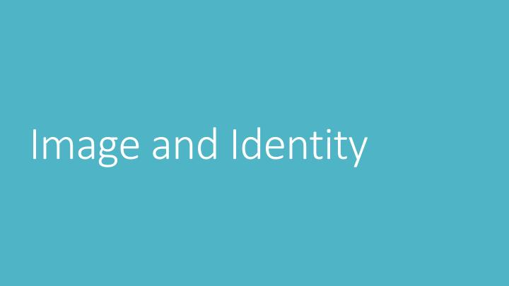 image and identity n.