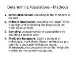 determining populations methods