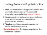 limiting factors in population size