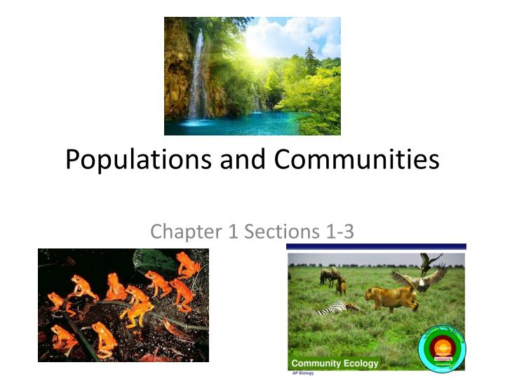 populations and communities n.