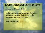 god is light and christ is love1