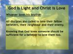 god is light and christ is love111