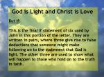 god is light and christ is love12