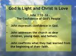 god is light and christ is love127