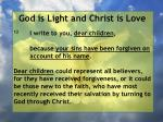 god is light and christ is love129
