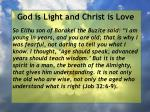 god is light and christ is love139