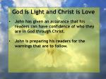 god is light and christ is love154