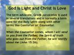 god is light and christ is love18