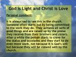 god is light and christ is love182