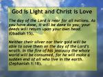 god is light and christ is love187