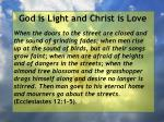 god is light and christ is love192