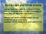 god is light and christ is love195