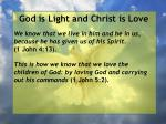 god is light and christ is love43