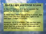 god is light and christ is love48