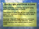 god is light and christ is love51