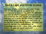 god is light and christ is love52