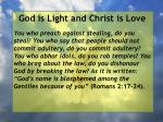 god is light and christ is love53