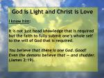 god is light and christ is love55
