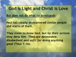 god is light and christ is love62